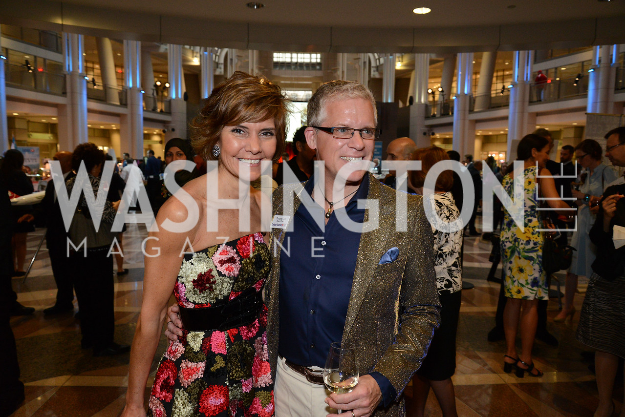 Timothy Cox and Honorary Gala Chairwoman, Capricia Marshall. Embassy Chef Challenge. Ronald Reagan Building. May 15, 2014. Photo by Neshan H. Naltchayan