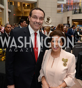 Mayor Vincent Gray and Shahin Mafi. Embassy Chef Challenge. Ronald Reagan Building. May 15, 2014. Photo by Neshan H. Naltchayan