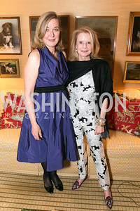 Emily Lodge, Lucinda Martin. Photo by Alfredo Flores. Emily Lodge's book party for The Lodge Women, Their Men and Their Times. Lucinda Martin residence. March 25, 2014