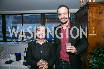 Inigo Oyarzabal, Francesca Oyarzabal. Photo by Alfredo Flores. Emily Lodge's book party for The Lodge Women, Their Men and Their Times. Lucinda Martin residence. March 25, 2014