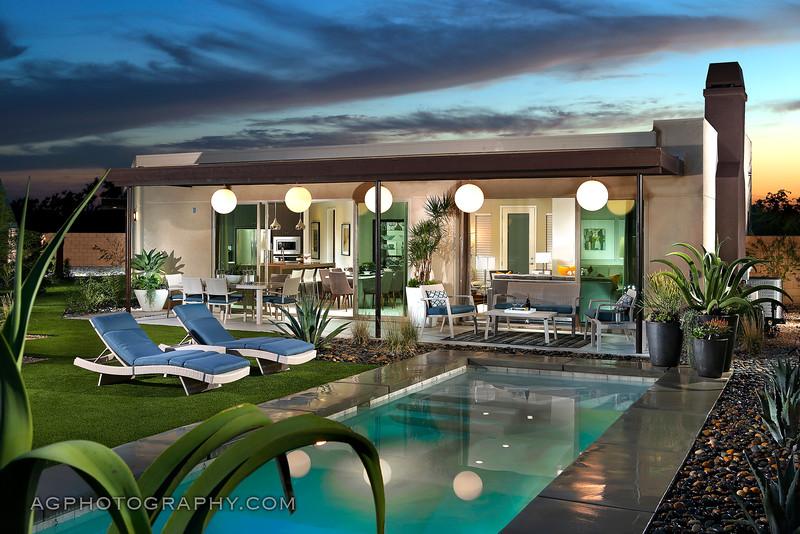 Enclave Model by Beazer Homes, Palm Springs, CA, 12/5/14.
