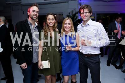 Christian and Anabel Genetski, Stephanie and Matt Mokey. Photo by Tony Powell. ESA's 20th Anniversary. Warner Building. December 3, 2014