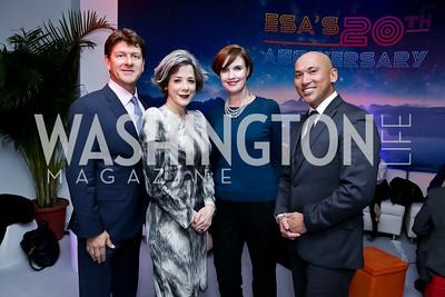 Lyndon Boozer, Heather Podesta, Stephanie Green, John Tinpe. Photo by Tony Powell. ESA's 20th Anniversary. Warner Building. December 3, 2014