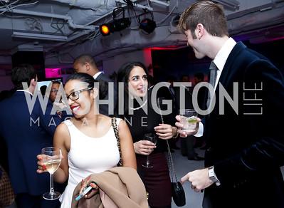 Ainab Rahman, Leila Siddique, Marc Langston. Photo by Tony Powell. ESA's 20th Anniversary. Warner Building. December 3, 2014