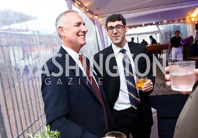 "Scott Mallan, David Diamond. Photo by Tony Powell. EWG EATS ""A Journey Through Food."" Longview Gallery. October 15, 2014"