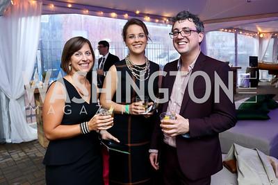"Valerie Craig, Ashley Koff, James Henry. Photo by Tony Powell. EWG EATS ""A Journey Through Food."" Longview Gallery. October 15, 2014"