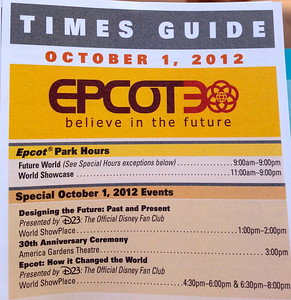 30th Anniversary Epcot 2012
