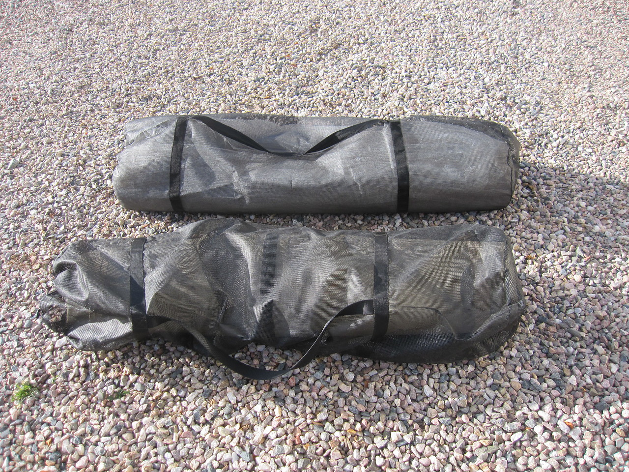 Two 100 gallon bladder tanks.  One is for remote diesel fueling and the other is for potable water.  Transfer pumps and hoses for both tanks are included.