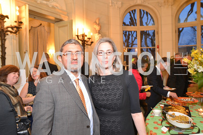 R-L Abigail Smith, Jose Alvarez, FOCUS Gala Celebrating DC's Public Charter School Movement, Meridian International Center, March 27, 2014, Photo by Ben Droz