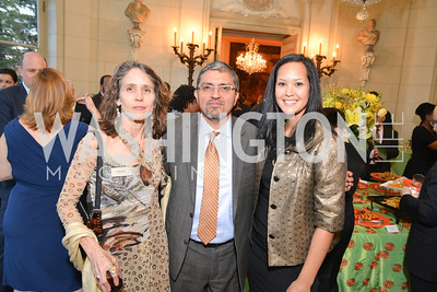 Julie Meyer, Ahnna Smith, Jesus Aguirre, FOCUS Gala Celebrating DC's Public Charter School Movement, Meridian International Center, March 27, 2014, Photo by Ben Droz