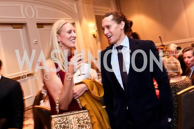 Casey Seidenberg, Kelly Welch. Photo by Tony Powell. FRESHFarm Markets Farmland Feast. Ritz Carlton. November 10, 2014