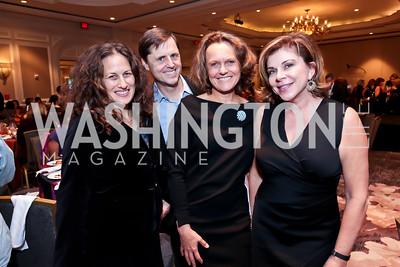Julia Cohen, Bob Perkowitz and Lisa Renstrom, Sue Cimbricz. Photo by Tony Powell. FRESHFarm Markets Farmland Feast. Ritz Carlton. November 10, 2014