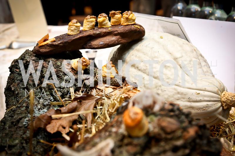 Bonito Biscuit by Tarver King of The Restaurant at Patowmack Farm. Photo by Tony Powell. FRESHFarm Markets Farmland Feast. Ritz Carlton. November 10, 2014