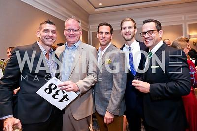 Richard Bernstein, William Flanagan, Michael Minnemann, Danny Fisher, Robert Moossy. Photo by Tony Powell. FRESHFarm Markets Farmland Feast. Ritz Carlton. November 10, 2014