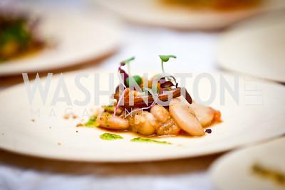 Cassoulet of Lamb Belly by Barry Koslow of Pinea at the W Hotel. Photo by Tony Powell. FRESHFarm Markets Farmland Feast. Ritz Carlton. November 10, 2014