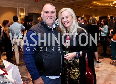 Jose Andres, Robin Wilder. Photo by Tony Powell. FRESHFarm Markets Farmland Feast. Ritz Carlton. November 10, 2014
