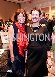 Co-Chairs Nora Pouillon, Joan Fabry. Photo by Tony Powell. FRESHFarm Markets Farmland Feast. Ritz Carlton. November 10, 2014