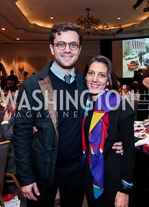 Jordan Hepner, Nina Damato. Photo by Tony Powell. FRESHFarm Markets Farmland Feast. Ritz Carlton. November 10, 2014