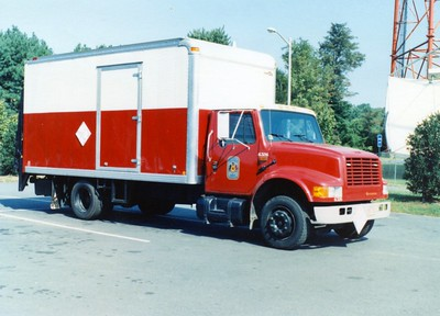 Former Logistics truck, a 1990 International, Shop #6326.