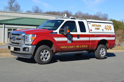 Battalion Chief 406 is a 2013 Ford-F350/Leer/Fastlane, County #6756.