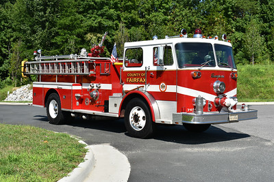 Officer side view of Fairfax County's 1971 Seagrave.