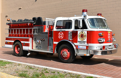 Fairfax County, Virginia Professional Firefighters & Paramedics L2068 - 1980 American LaFrance 1250 gpm.  Serial number CE-6964.  Originally delivered to Mount Morris, Michigan.