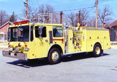 Former Engine 64, a 1986 KME Kovatch, 1250/500/60.
