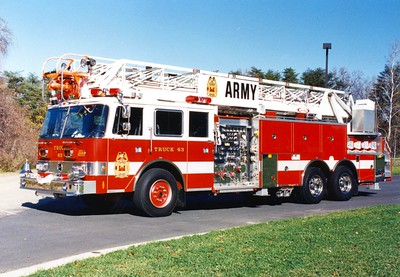 Former Truck 63, a 1991 Pierce Arrow, 1000/300, 100', sn- 5938-03.