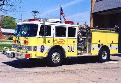 Former Engine 410, a 1987 Pierce Arrow/1997 Singer, 1500/500, sn- E4168.  Sold to Mathias-Baker, West Virginia.