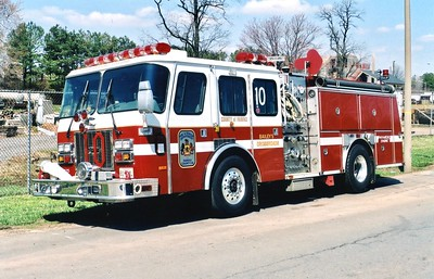 Former Engine 410, a 1996 E-One Cyclone (glider kit), 1250/500, Shop #7125.