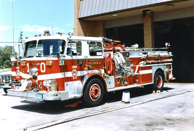 Former Engine 10, a 1973 Seagrave, 1000/500, sn- B73134, Shop #671.  Rehabbed following an accident with Rescue Squad 11.