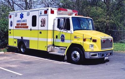 Former Medic 410, a 2001 Freightliner 60/Medic Master, Shop #V88.
