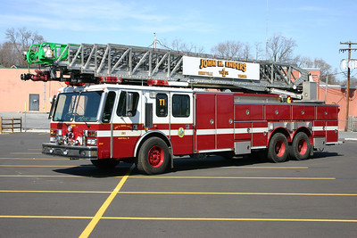 Berryville Truck 1 is a 1984 E-One Hurricane with a 135' ladder.  It returned to E-One in 1997 where the cab was enclosed into a four door, along with other work.  This is one of a few 135' ladder trucks in Virginia.  Truck 1 is former Truck 410 from Baileys Crossroads in Fairfax County, Virginia.