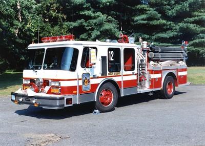 Former Engine 12, a 1986 E-One Hurricane, 1250/500, Shop #7181.