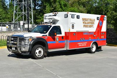 Great Falls, VA - Fairfax County Medic 412 - a 2012 Ford F550/Braun.