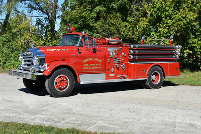 Great Falls, Virginia in Fairfax County once operated this 1955 GMC 630/American with  a 750/500 and s/n 1718-8-55.  This truck was restored in 2011 by Martz Body Shop in West Virginia.  After serving Great Falls, it was sold to New Hope, TN where is operated from 1975-1995.  From New Hope it went to South Pittsburg Mountain, TN from 1998-1999.  It was sold to a collector in Herndon, Virginia in 1999.