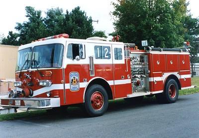 Former Engine 12, a 1984 Duplex/E-One/1993 LSI, 1250/50, Shop #7138.