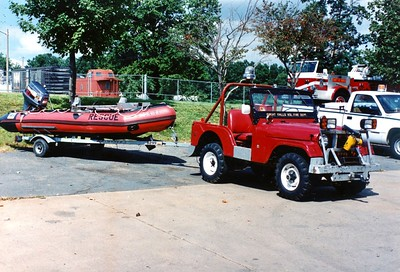 Former Jeep 12, a 1968 Willys Jeep, 100gwt.  Photographed towing a boat.