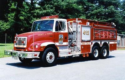 Former Tanker 412, a 2003 Freightliner 112/Pierce, 1250/2500, sn- 13931, Shop #7162.
