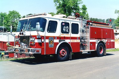 Former Engine 412, a 1995 E-One Protector/1998 E-One (accident damage repair), 1250/750, sn- 14226, Shop #7057.