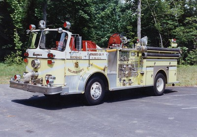 A beautiful 1967 Seagrave, 1250/300 use to operate as Engine 16.  ex - Burke, Virginia (Fairfax County)  Donated to the Fauquier County, Virginia, high school cadet training program.