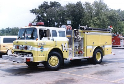 Former Pumper 14, a 1985 Ford C/E-One, 1000/500.  Sold to Philomont, Virginia (Loudoun County).
