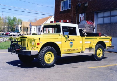 Former Brush 414, a 1968 Kaiser Jeep M175, 1 1/4 ton/1997 Singer, 60/165.  Damaged in station fire in 1997.  Former US Government, sold to a private collector.
