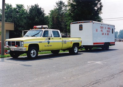 Former Cave-In 14, a 1985 GMC/Wells Cargo Trailer/Steeldraulics.