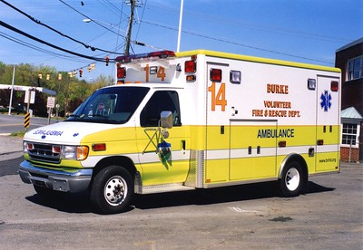 Former Ambulance 414, a 1997 Ford E-350/Horton.  One of two similar units.