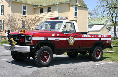 In 2013, this 1985 Ford F250 became the departments Utility when the brush skid package was moved to the departments new Unimog, Attack 11.  Replaced in 2017.