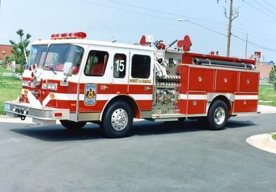 Former Engine 15, a 1989 E-One Hush, 1250/500, Shop #7217.