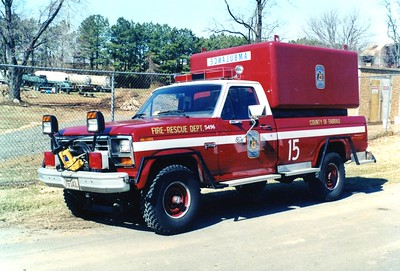 Brush 415 photographed with the EMS module, a 1985 Ford F-250/Steeldraulics.