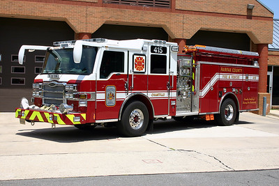 Former Engine 415 is a 2010 Pierce Velocity, 1250/750/40, sn-22575-02, County #7306.