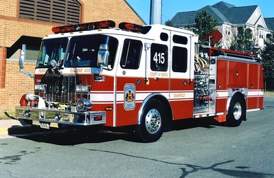 Former Engine 415, a 2003 E-One Cyclone II, 1250/750, sn- 126363, Shop #7395.  Sold to Harrison Township, Waverly, Indiana.